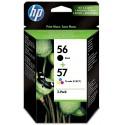 Tinta HP 56 Negro y 57 Color SA342AE