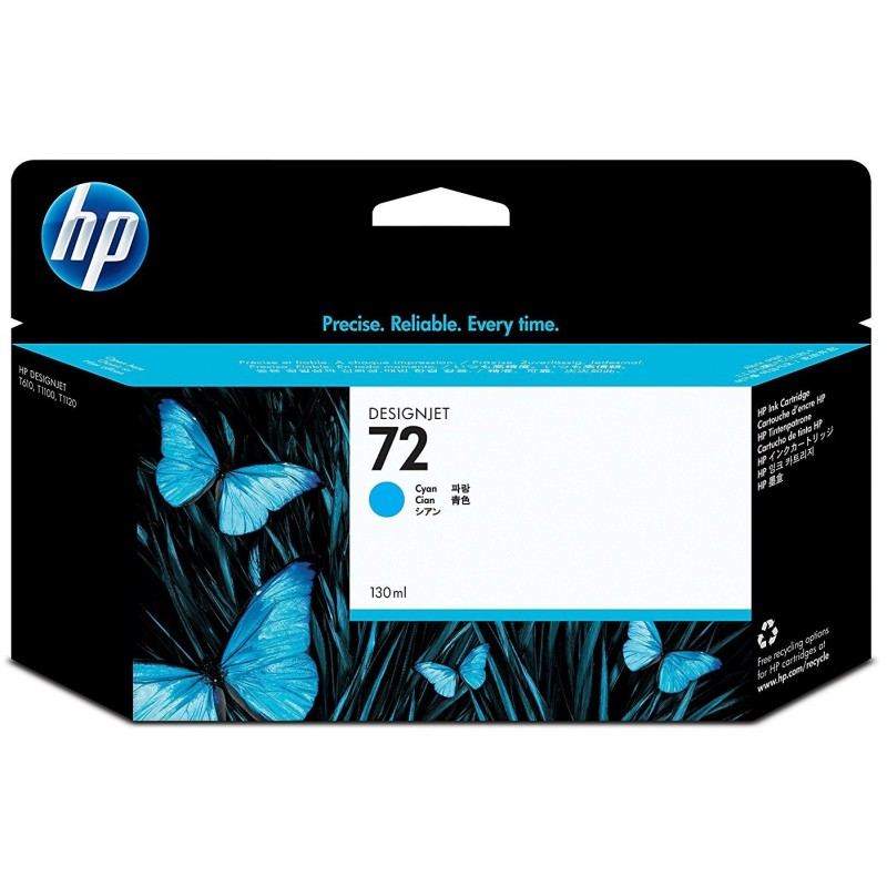 Tinta HP 72 Cian C9371A 130ml