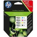 Tinta HP 932XL y 933XL Pack 3 Colores C2P42AE