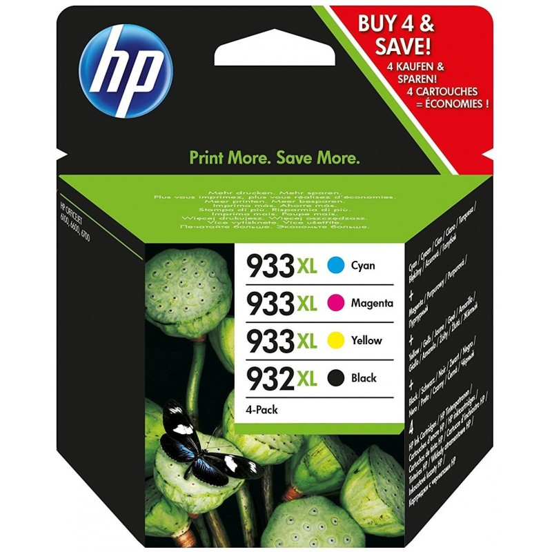 Tinta HP 932XL y 933XL Pack 3 Colores C2P42AE
