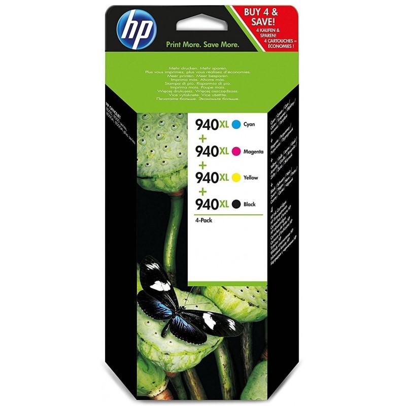 Tinta HP 940XL Pack de los 4 Colores C2N93AE
