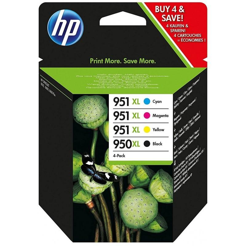 Tinta HP 950XL y 951XL Pack 3 Colores C2P43AE