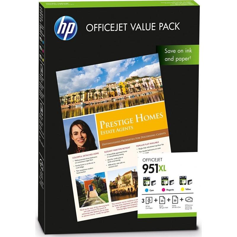 Tinta HP 951XL Pack de los 3 Colores CR712AE
