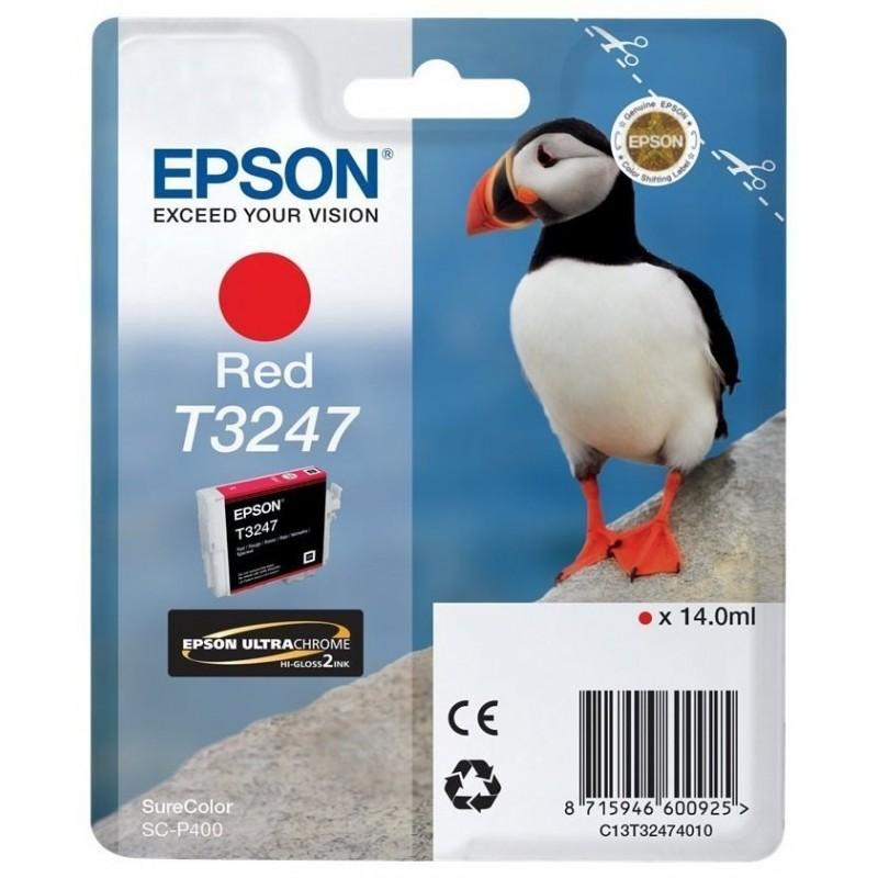 Tinta Epson T3247 Rojo