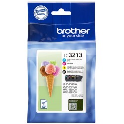 Tinta Brother LC3213 Pack de los 4 Colores