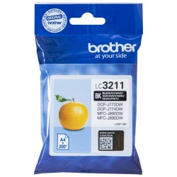 Tinta Brother LC3211BK Negro