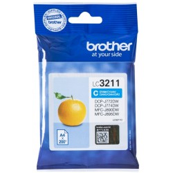 Tinta Brother LC3211C Cian
