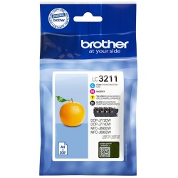 Tinta Brother LC3211 Pack de los 4 Colores