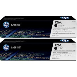 HP Toner 126A Black CE310AD Pack 2 Units