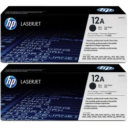 HP 12A Black Toner Q2612AD Pack 2 Units