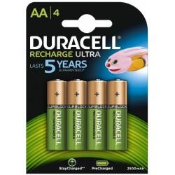 Pila Recargable AA Duracell 4 Unidades