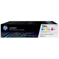 Toner HP 126A Pack 3 Colores CF341A