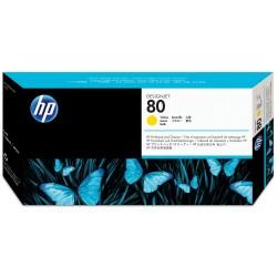 Cabezal con Limpiador HP 80 Amarillo C4823A