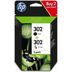 Tinta HP 302 Pack Negro/Color X4D37AE