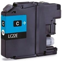 Tinta Compatible Brother LC22EC Cian