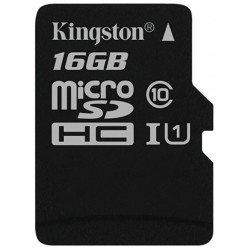 Tarjeta MicroSD 16GB Kingston Canvas Select