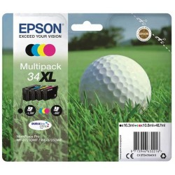 Tinta Epson 34XL Pack de los 4 Colores T3476