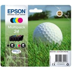 Tinta Epson 34 Pack de los 4 Colores T3466