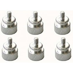 Large Housing screw Anodized Silver 6 Units