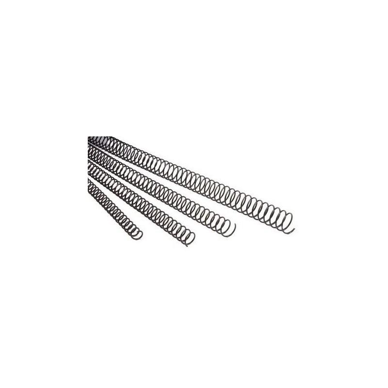 Espiral Metálico de 6mm 100 Uds GBC Negro