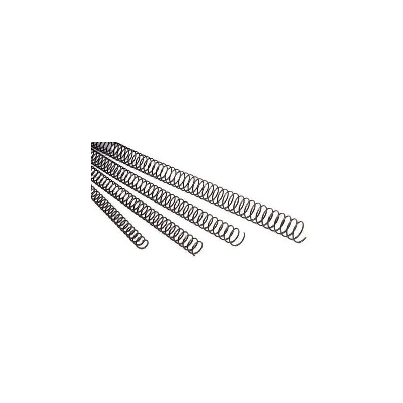 Espiral Metálico de 12mm 100 Uds GBC Negro