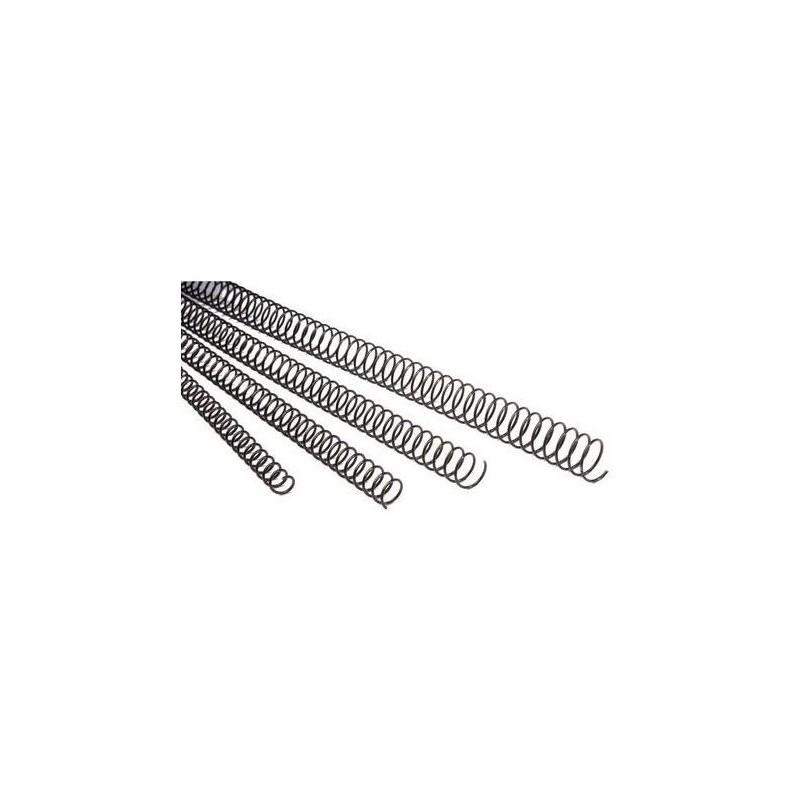Espiral Metálico de 18mm 100 Uds GBC Negro