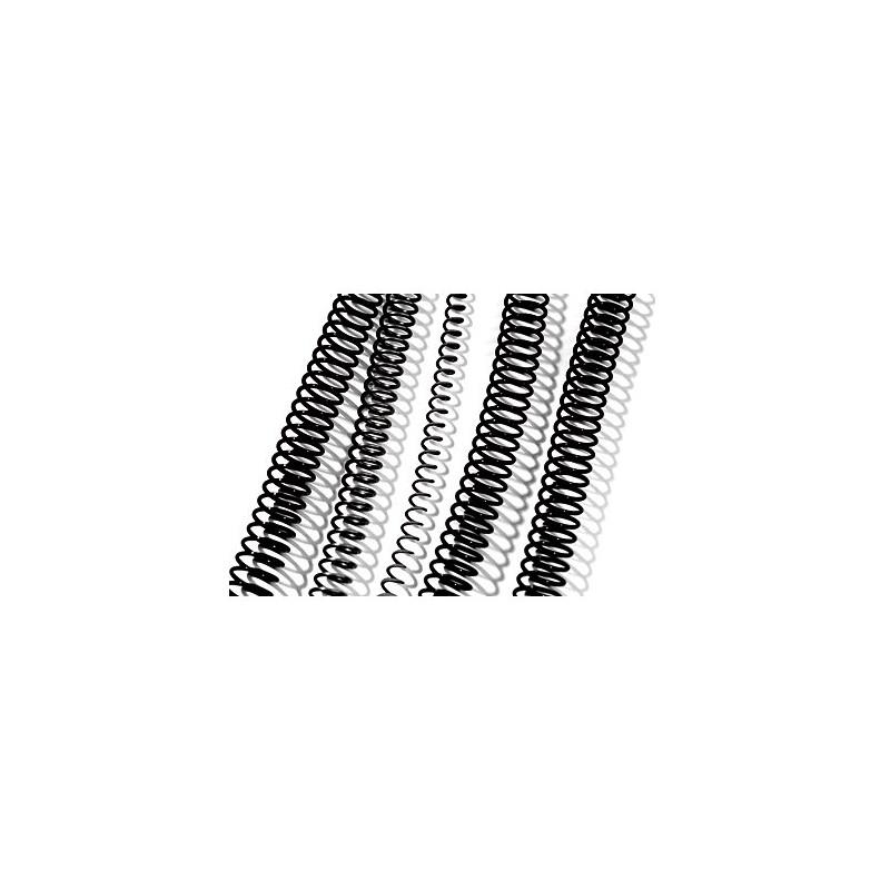 Espiral Plástico de 12mm 100 Uds GBC Negro