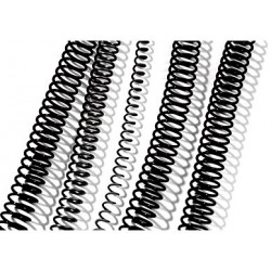 Espiral Plástico de 14mm 100 Uds GBC Negro