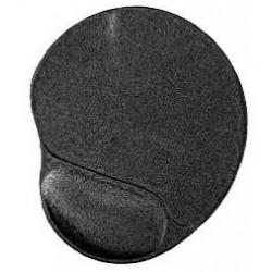 Gembird mat with wrist rest Gel Black