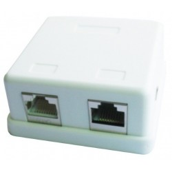 Roseta de Superficie RJ45 Cat.6 Doble Gembird