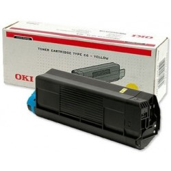 Oki C3100 Toner Yellow 42804513