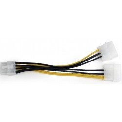 Cable Alimentación PCIe 8 pines / 2 Molex Cablexpert