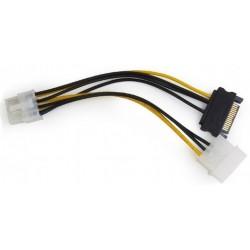 Cable Alimentación PCIe 8 pines / Molex + SATA Cablexpert