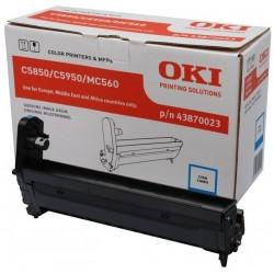 Tambor Oki C5850/C5950/MC560 Cian 43870023
