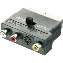 Adaptador SCART a RCA+S-VIDEO Cablexpert