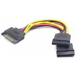 Cable Alimentación SATA M / 2x SATA H Cablexpert