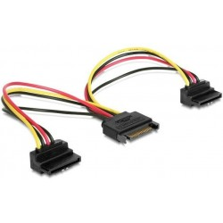 Power Cable SATA M / H 2x SATA angled Cablexpert
