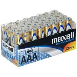MAXELL MAX73129 PACK 32 PILAS ALCALINAS LR03 AAA 1.5V