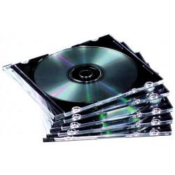 Caja CD/DVD Slim Jewel x10 Fellowes Clear