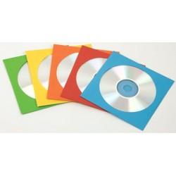Fundas para CD o DVD 50 Unidades Fellowes de Papel de Colores