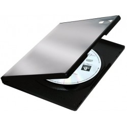 Caja CD/DVD Plastica Slim x5 Fellowes