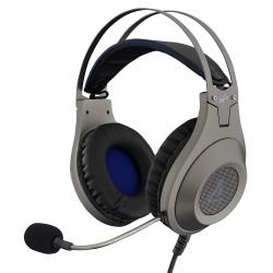 Auriculares con Micrófono The G-Lab Korp Chromium Silver