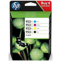 Tinta HP 953XL Pack de los 4 Colores 3HZ52AE