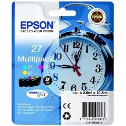 Tinta Epson 27 Pack de los 3 Colores T2705