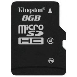 Tarjeta MicroSD 8GB Kingston SDC4 sin Adaptador
