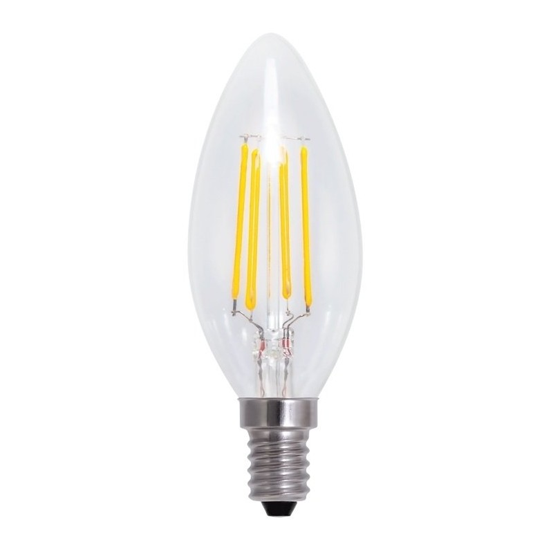 Bombilla Led E14 Vela 2800K 4W Omega Vintage Filament Bulb