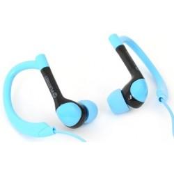 Auriculares Platinet Sport + Mic Azul