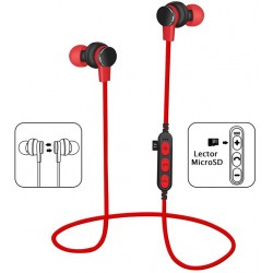 Auriculares Bluetooth Platinet PM1061R Rojo