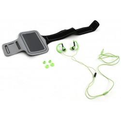 Auriculares y Brazalete Fitness Platinet PM1070G Verde