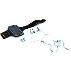 Auriculares y Brazalete Fitness Platinet PM1070BL Azul